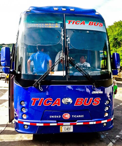 Bus from San Salvador to Guatemala City, 6 hours, $18, Tica Bus.
