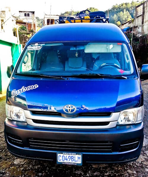 Shuttle bus from Antigua to San Cristobal de las Casa, Chiapas, Mexico. 11 hours, $50.