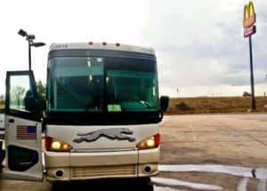 Overnight bus from El Paso, TX to Las Vegas, NV.