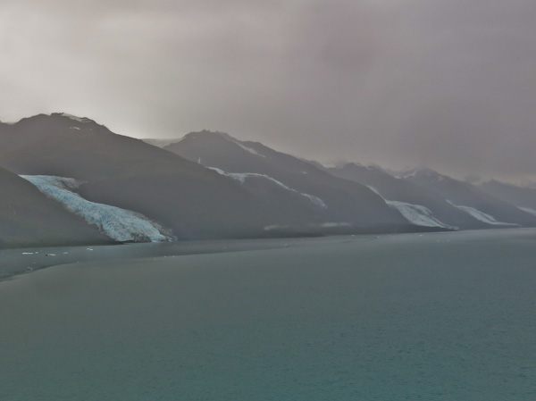 Bad weather at College Fjord Glacier Viewing