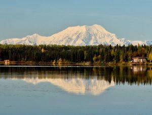 Denali Mountain (Mount McKinley) in Reflection Lake