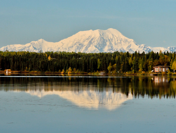 Denali Mountain (Mount McKinley) in Reflection Lake