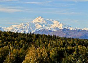 Denali Mountain (Mount McKinley) in Fall