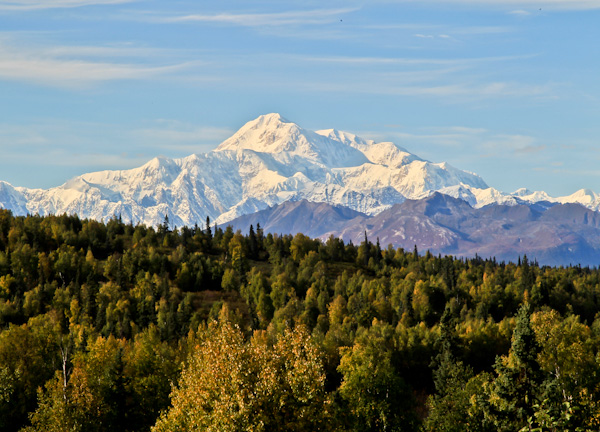 Denali Mountain (Mount McKinley) in Fall