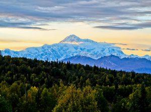 Denali Mountain (Mount McKinley) at sunset