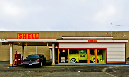 Old Fashioned Gas Station, Olympia, Washington