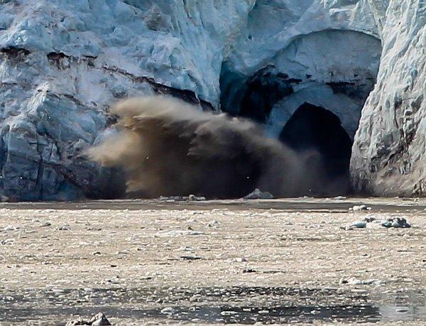 Ice Calving at Glacier Bay Alaska