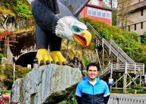 Bald Eagle Statue in Ketchikan Alaska