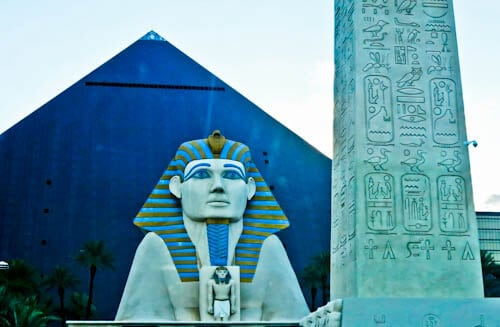 Las Vegas Landmarks - Luxor - Sphinx and Egyptian Pyramid