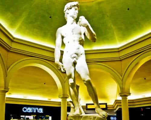 Las Vegas Landmarks - Caesars Palace - David Statue