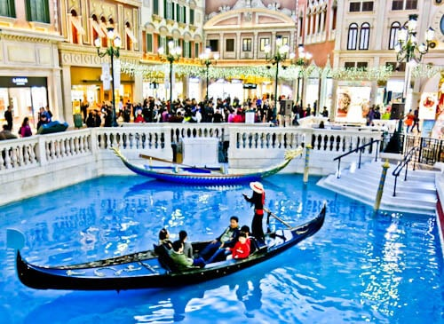 Las Vegas Landmarks - Venetian - Gondolas and Canals of Venice