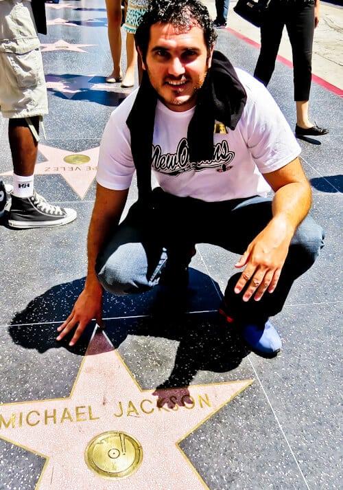 Los Angeles Landmarks - Walk of fame, Hollywood - Michael Jackson Star
