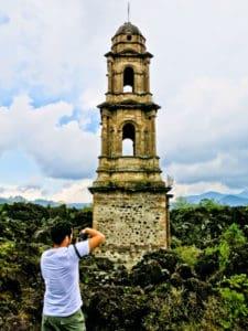 The church of Paricutin volcano