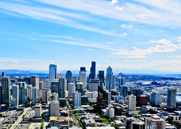Panoramic Seattle View from the Space Needle