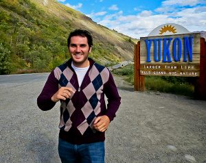 Welcome to Yukon Sign - Skagway