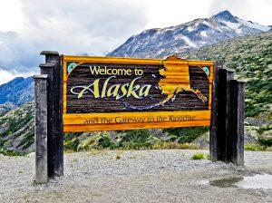 Welcome to Alaska Sign - Skagway