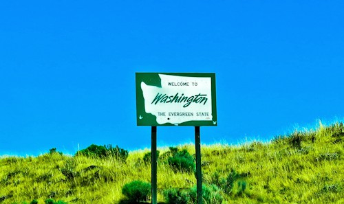 Washington State Sign, Washington, US