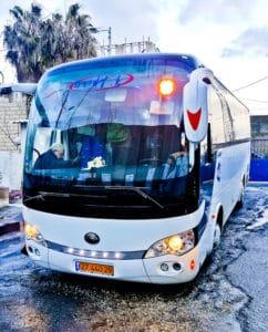 Bus from Bethlehem to Jerusalem
