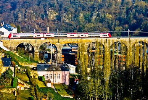 How to get from Luxembourg to Brussels - Train from Luxembourg City to Brussels - Passerelle - Luxembourg Viaduct