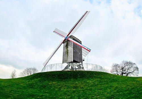 Sint-Janshuismolen Windmill, Bruges