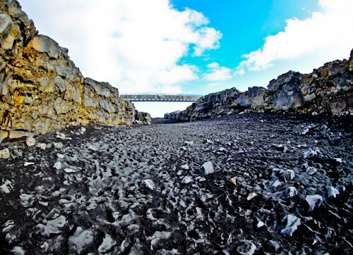 The bridge between continents, Iceland