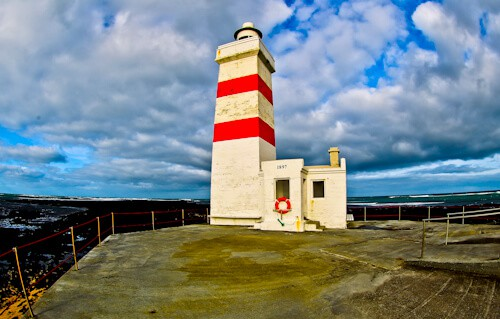 Gardur Lighthouse, Reykjanes Peninsula - Iceland