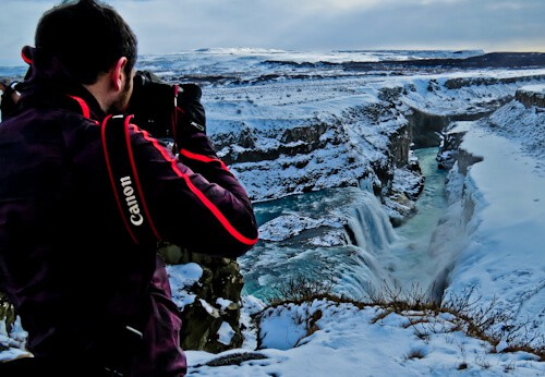 Gullfoss Falls Upper Viewing Platform