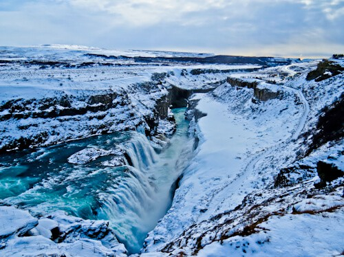 Gullfoss Falls in WInter