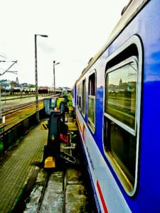 Train from Krakow to Kiev