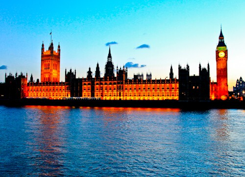 London Landmarks - Houses of Parliament and Big Ben