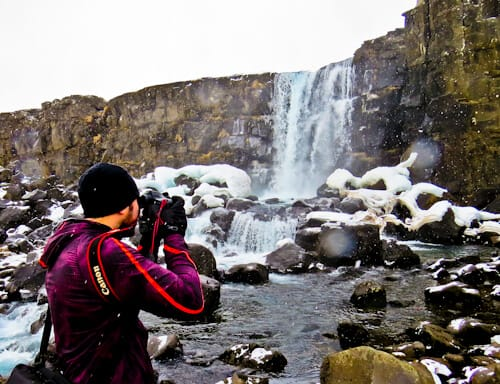 Þingvellir Game of Thrones Location - Iceland - Oxararfoss waterfall