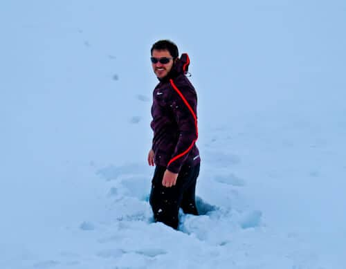Deep snow, Iceland