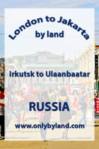 A visit to the points of interest of Irkutsk and also to the UNESCO world heritage site of Lake Baikal and the CircumBaikal railway before taking the Trans-Mongolian to Ulaanbaatar