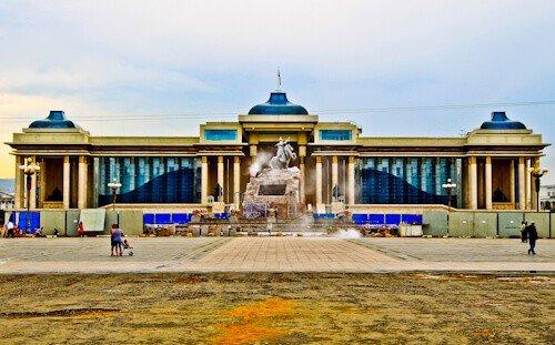 Sukhbaatar Square (Chinggis Square) Ulaanbaatar