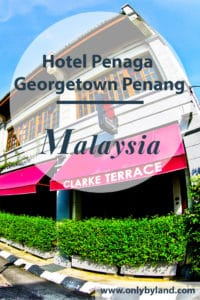 Penaga Hotel is located inside the Georgetown UNESCO world heritage city of Penang, Malaysia