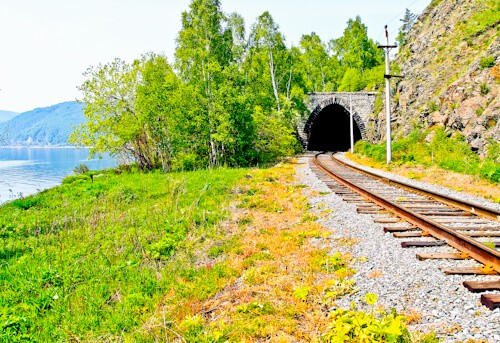 Port Baikal, Circumbaikal railway, Siberia