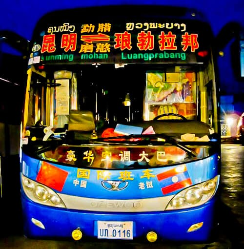 Overnight bus from Kunming to Luang Prabang