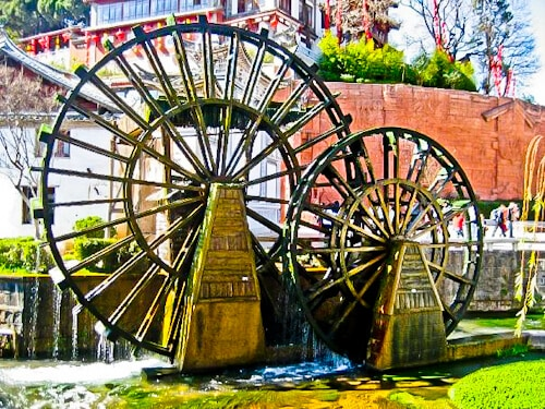 Water Wheels, Old Town of Lijiang, Yunnan