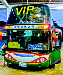 Overnight bus from Luang Prabang to Vientiane