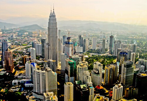 The view from Kuala Lumpur Tower
