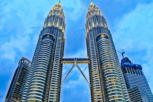 The Petronas Twin Towers, Kuala Lumpur