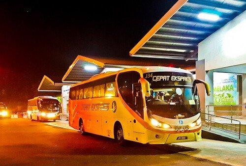 Bus from Kuala Lumpur to Melaka