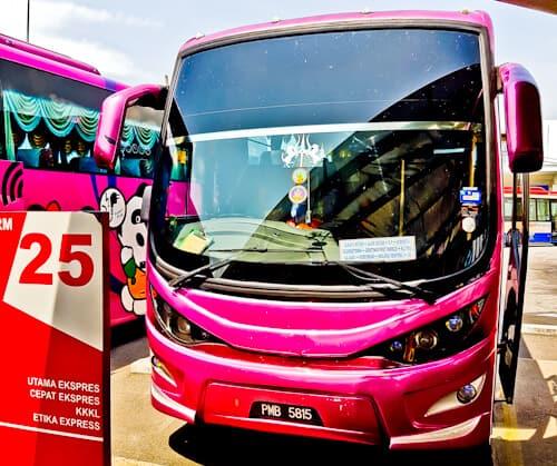 Bus from Penang Butterworth to Kuala Lumpur