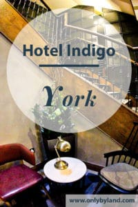 Hotels in York. Hotel Indigo York is a chocolate themed hotel in York, Yorkshire, United Kingdom. It is located inside the York City Walls and within walking distance of the York Minster, Shambles and museums of the city.