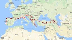 Lisbon to Tehran by land