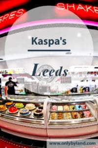 Kaspa's Desserts in Leeds offers waffles, crepes, sundaes, smoothies, gelato, ice cream and cakes.