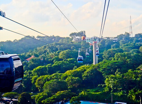 Cable Car to Sentosa, Singapore