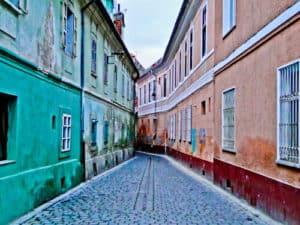 Rope Street, Strada Sforii (narrowest street in Brasov)