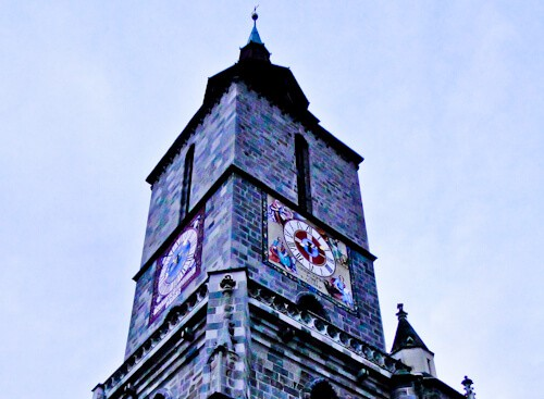 Things to do in Brasov - Biserica Neagra church spire