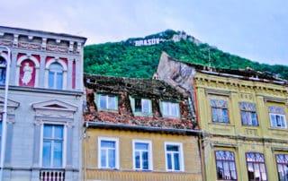Brasnov Sign, Brasov, Transylvania, Romania